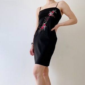 Nordstrom Arden B Black Floral Sleeveless Dress